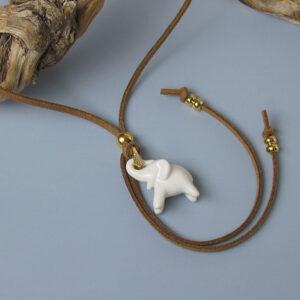 Porzellananhänger Elefant