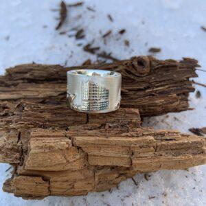 Designer-Hamburg-Ring in 925 Silber