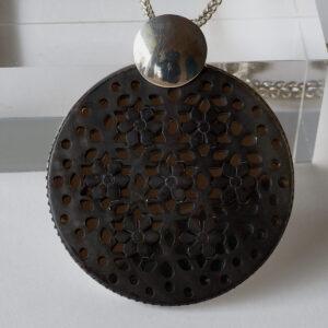 Anhänger Silber mit Perlmutt - Mandala
